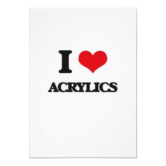 I Love Acrylics Announcement Cards