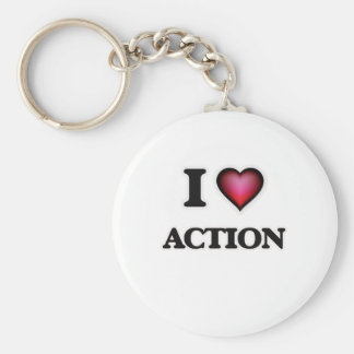 I Love Action Key Ring