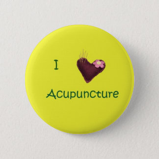 I Love Acupuncture Button
