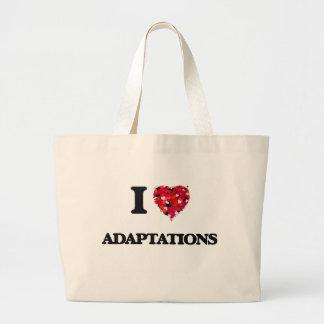 I Love Adaptations Jumbo Tote Bag