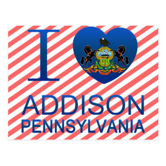 I Love Addison, PA Postcard