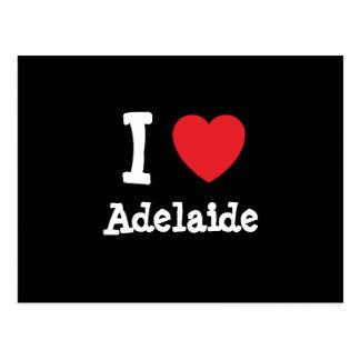 I love Adelaide heart T-Shirt Postcards