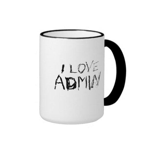 I love admin - urban, edgy office work mug
