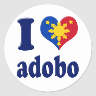 I Love Adobong Pinoy Classic Round Sticker