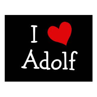 I Love Adolf Postcard