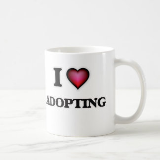 I Love Adopting Coffee Mug