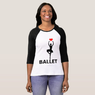 I Love Adore Ballet Funny customizable T-Shirt