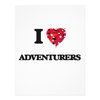 I Love Adventurers 21.5 Cm X 28 Cm Flyer