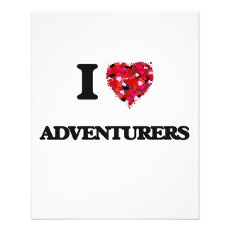 I Love Adventurers 11.5 Cm X 14 Cm Flyer