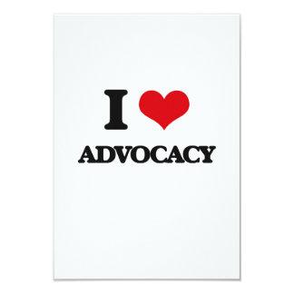 "I Love Advocacy 3.5"" X 5"" Invitation Card"