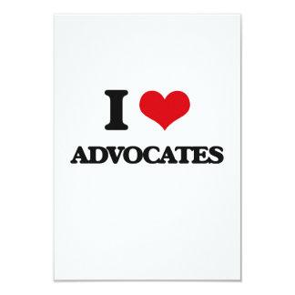 "I Love Advocates 3.5"" X 5"" Invitation Card"