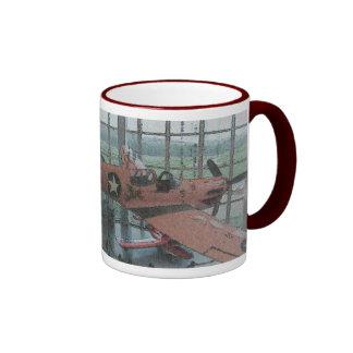 I Love Aeroplanes Ringer Mug