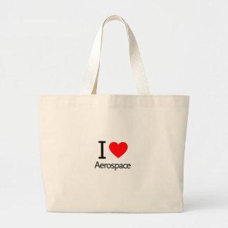 I Love Aerospace Large Tote Bag