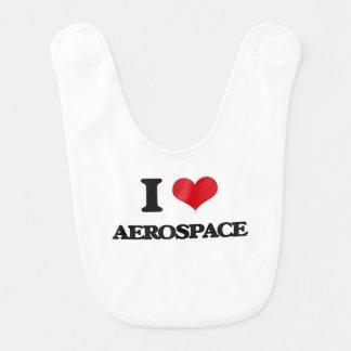 I Love Aerospace Baby Bibs
