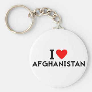 i love Afghanistan country nation heart symbol tex Key Ring