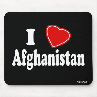 I Love Afghanistan Mouse Pad