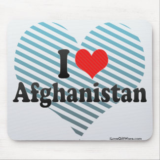 I Love Afghanistan Mouse Pads
