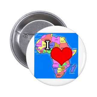 I Love Africa Pinback Buttons