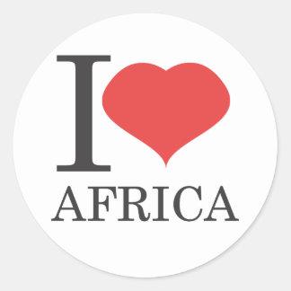 I love Africa Classic Round Sticker