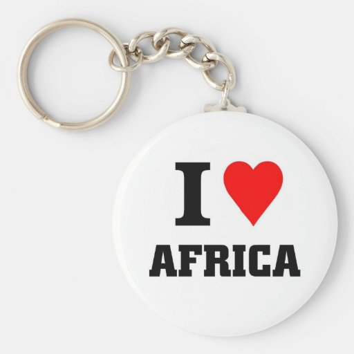 I love africa keychains