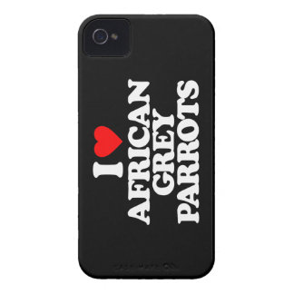 I LOVE AFRICAN GREY PARROTS Case-Mate iPhone 4 CASE