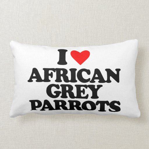 I LOVE AFRICAN GREY PARROTS THROW PILLOWS