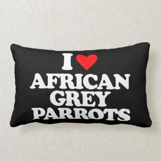 I LOVE AFRICAN GREY PARROTS THROW PILLOW