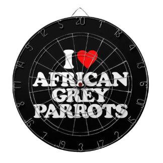 I LOVE AFRICAN GREY PARROTS DART BOARDS