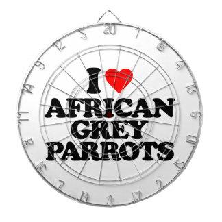 I LOVE AFRICAN GREY PARROTS DART BOARD