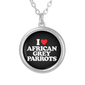 I LOVE AFRICAN GREY PARROTS JEWELRY