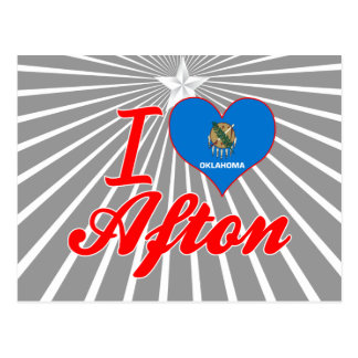 I Love Afton, Oklahoma Postcard
