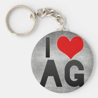 I Love AG Key Ring