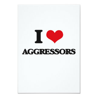"I Love Aggressors 3.5"" X 5"" Invitation Card"