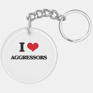 I Love Aggressors Keychain