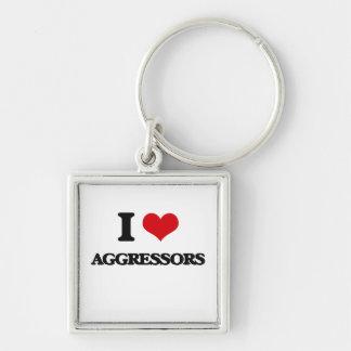 I Love Aggressors Key Chains