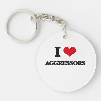 I Love Aggressors Acrylic Key Chain