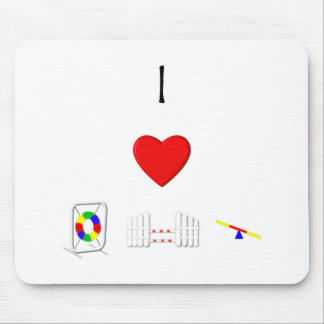 I Love Agility (equipment) Mouse Pad