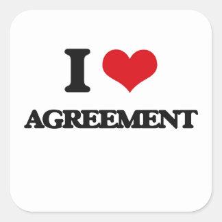 I Love Agreement Sticker