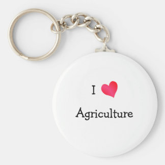 I Love Agriculture Key Chain
