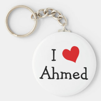 I Love Ahmed Basic Round Button Key Ring