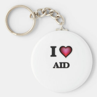 I Love Aid Key Ring