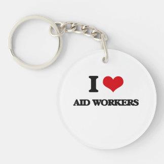 I love Aid Workers Keychain