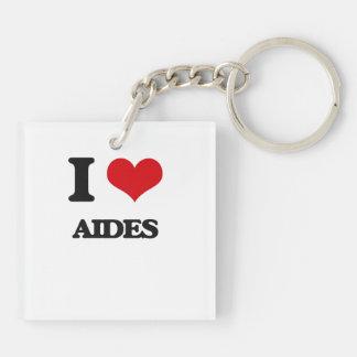 I Love Aides Keychain