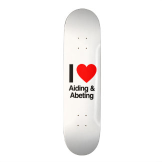 i love aiding and abeting skate board decks