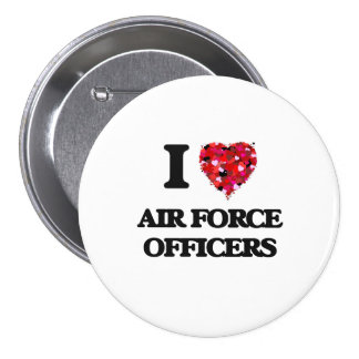 I love Air Force Officers 3 Inch Round Button