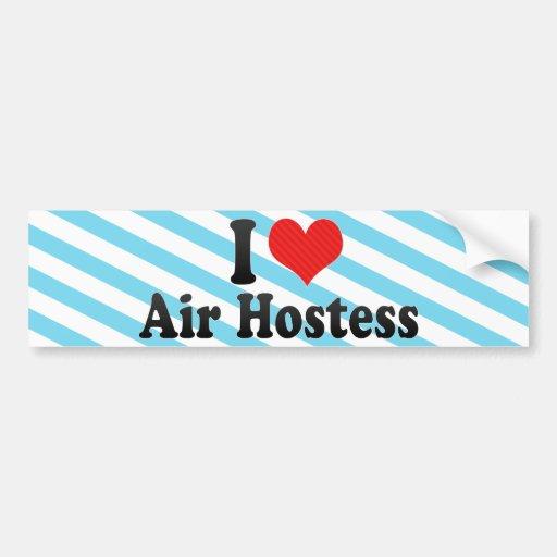 I Love Air Hostess Bumper Stickers