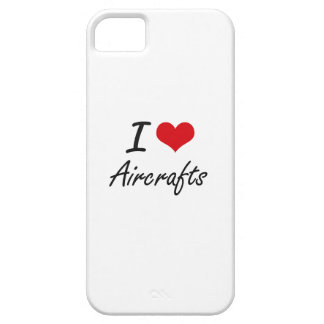 I Love Aircrafts Artistic Design iPhone 5 Cases
