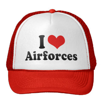 I Love Airforces Mesh Hat