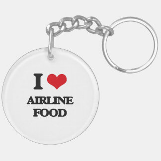 I love Airline Food Double-Sided Round Acrylic Keychain