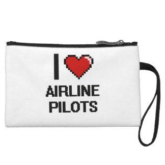 I love Airline Pilots Wristlet Purses
